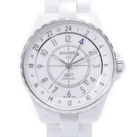 CHANEL シャネル J12 38mm GMT H3103 メンズ 白セラミック/SS 腕時計 自動巻き 白文字盤 Aランク 中古 銀蔵