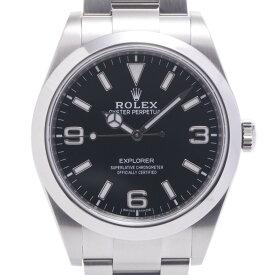 ROLEX ロレックス エクスプローラー1 EX1 214270 メンズ SS 腕時計 自動巻き 黒文字盤 Aランク 中古 銀蔵