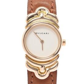 BVLGARI ブルガリ パレンテシ BJ01 レディース YG/革 腕時計 クオーツ 白文字盤 Aランク 中古 銀蔵