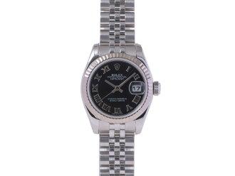 541596fa74e1 Ginzo Rakuten Ichiba Shop  Rolex ROLEX Datejust 179174 WG SS D-Sunbeam  black dial-