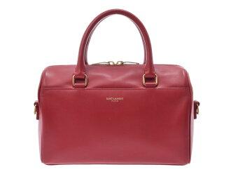 Used Saint-Laurent baby duffel leather red 2WAY bag SAINT LAURENT◇