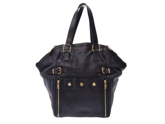 Used Saint-Laurent downtown leather black GP metal fittings bag YVES SAINT LAURENT◇