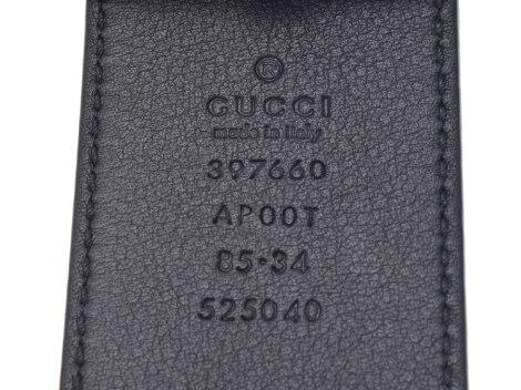 453668283e06 楽天市場】グッチ ベルト GGバックル 黒 G金具 メンズ レザー サイズ85 ...