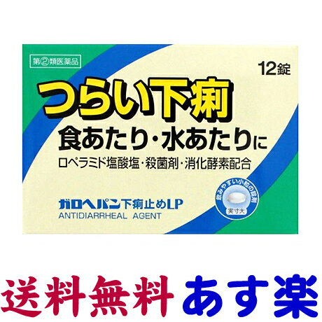 【第(2)類医薬品】ガロヘパン 下痢止め薬 12錠(ロペミンのジェネリック)
