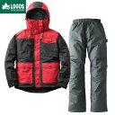 LOGOS ロゴス 汚れに強い防水防寒スーツ カーター メンズ ブラック LL