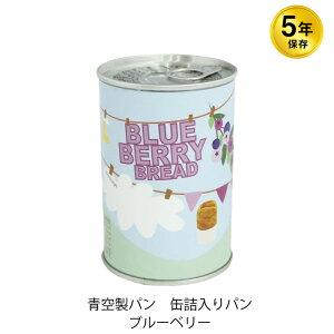 5年保存 非常食 青空製パン 缶詰入りパン ブルーベリー 1缶