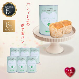 5年保存 非常食 缶詰入りパン パティシエの愛するパン 米粉ショコラ 6缶セット