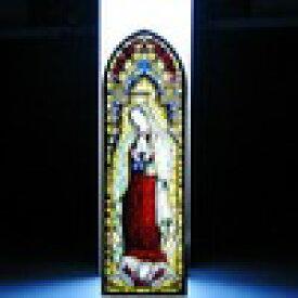 ★浮び上るグアダルーペの聖母 【ステンドグラス】キリスト教/ジョバンニローゼ/ガラスのマリア像/スタンド型/インテリア/小物/置物/西洋風/アンティーク