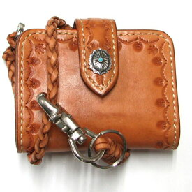 [クーポン発行中] 二つ折り財布 ウォレットチェーン 財布 ハンドメイド ショートウォレット メンズ プレゼント 新生活 勤労感謝の日