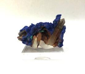 結晶石アズライト付き水晶
