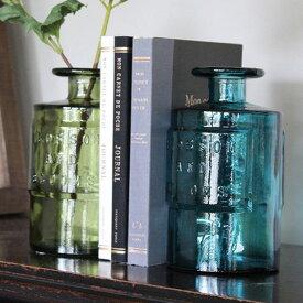 VALENCIA RECYCLE GLASS バレンシア リサイクル ガラス SIETE フラワーベース 花瓶 水差し ボトル ガラス瓶 西海岸 グラス ライト ポプリ アンティーク 【あす楽】