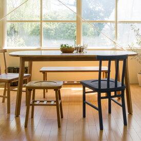 SIEVE シーヴ merge ダイニングテーブル ラウンド (W165×D85×H72cm) ダイニングテーブル 木製 無垢 ラウンド オーバル ダイニング テーブル 食卓 家具 北欧