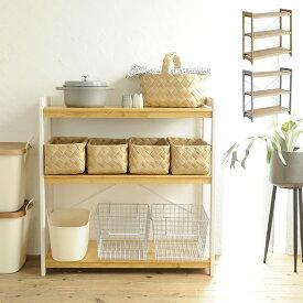 Milk オープンラック 【メッセージカード対応】 ラック シェルフ 木製 北欧 ナチュラル 棚 3段 キッチン リビング 収納