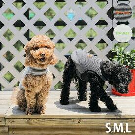 【1点までメール便可】 NEW JACK ニュージャック ワンホール刺繍ボーダー S、M、L 【メッセージカード対応】 犬用 犬の服 ドッグウェア タンクトップ クール かっこいい シンプル ユニセックス ボーダー