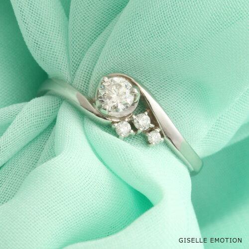 婚約指輪 0.2ct【10大特典あり】『エンゲージリング ダイヤモンドリング K10WG』ダイヤモンド 10金 プラチナリング 刻印無料 サイズ直し無料 結婚記念日 彼女|誕生日プレゼント|女性|エンゲージリング