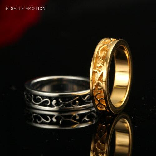 【送料無料】『天然ダイヤモンドローズ×アラベスク ペアリング』 2本セット|ハワイアンリング|サージカルステンレス|アレルギーフリー|金属アレルギー|シルバー|ブラック|ピンクゴールド|誕生日プレゼント|女性|結婚指輪|刻印無料