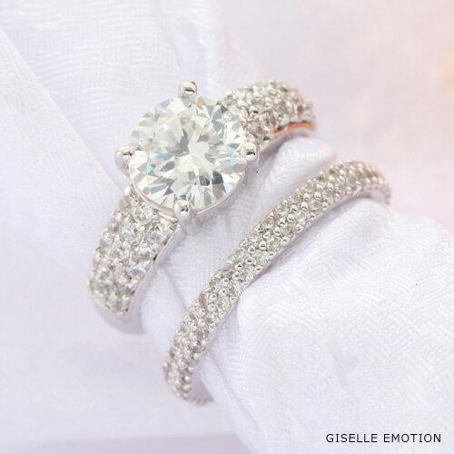 リング贅沢な5.5カラット2本セットリング 『デザイナーズリング』プラチナ仕上げ デザイナーズリング スワロフスキーリング リング|婚約指輪|結婚指輪|プラチナ|ジュエリー|かわいい|レディース|彼女|誕生日プレゼント|妻|女性|結婚記念日