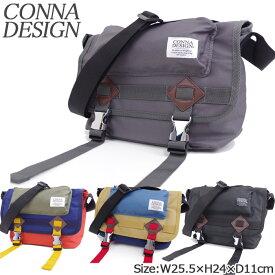 95949ffec18b ショルダーバッグ レディース/メンズ 斜めがけバッグ メッセンジャー BOXフラップ メタルバックル CONNA DESIGN コンナ