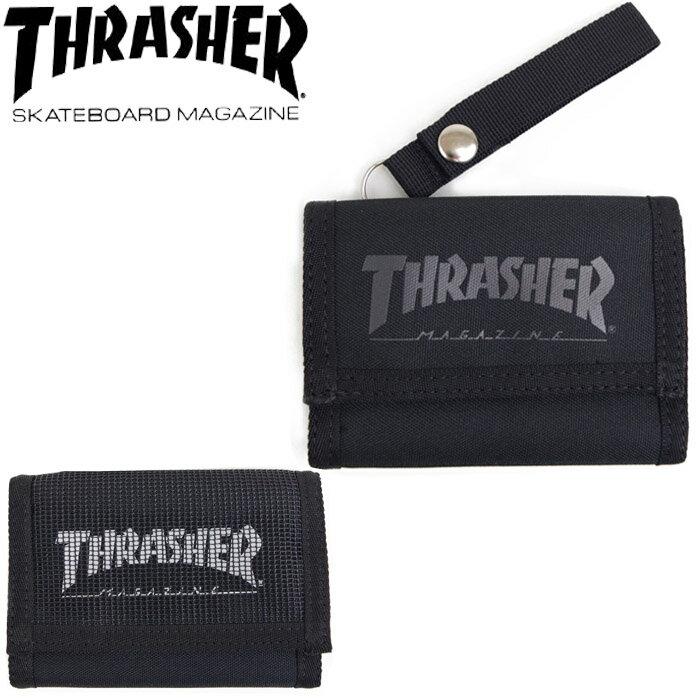 財布 三つ折り財布 メンズ 小銭あり THRASHER/スラッシャー TH064 サイフ コイン カード カギ 鍵 郵 メール便 送料無料