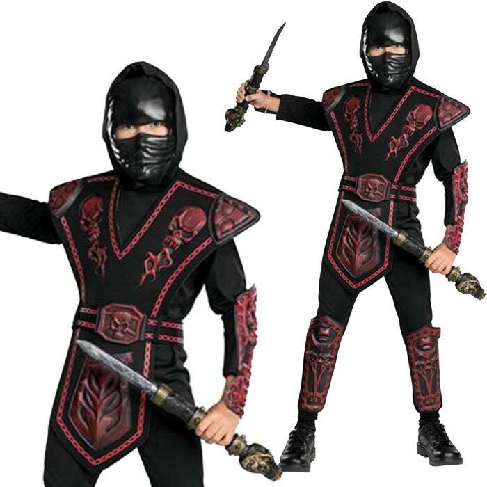 ハロウィン 衣装 子供 コスプレ 仮装 Red Skull Warrior Ninja 忍者 男の子 コスチューム ハロウィンパーティー イベント ハロウイン halloween