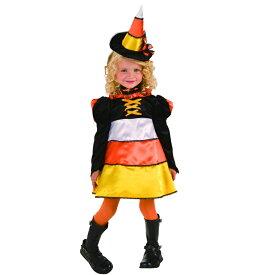 ハロウィン 衣装 子供 魔女 コスプレ 女の子 仮装 Candy Corn Witch 仮装 コスチューム ハロウィンパーティー ハロウイン イベント ハロウィーン あす楽