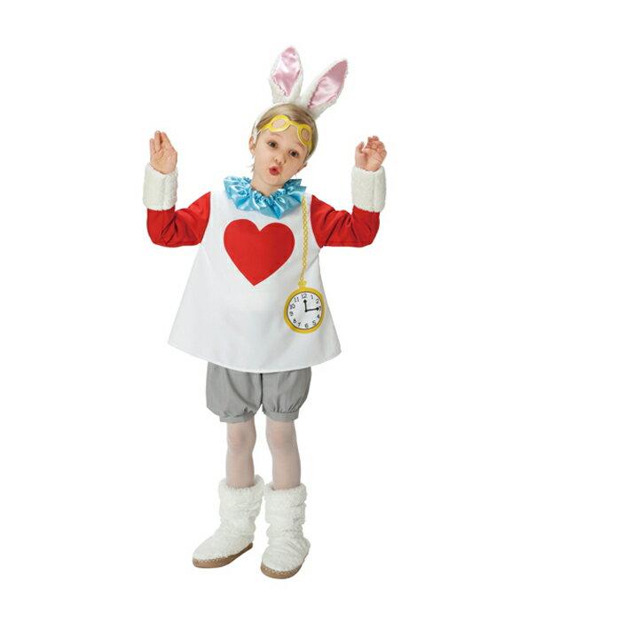 ハロウィン 衣装 子供 女の子 ディズニー キッズ 不思議の国のアリス child white rabbit 子ども用 スノーラビット 仮装 コスチューム ディズニーランド ハロウイン コスプレ イベント ハロウィーン あす楽