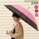 【エントリーでポイント+12倍】傘 レディース 24本骨 和傘 和風傘 京美咲 雨に濡れると桜が浮き出る 長傘 雨傘 かさ …