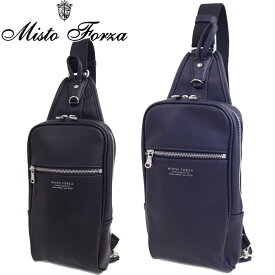 misto forza/ミストフォルツァ ボディバッグ ワンショルダー 斜めがけ バッグ メンズ/レディース ブラック/ネイビー FMH20 ショルダーバッグ ブランド 旅行 合皮 通勤 通学
