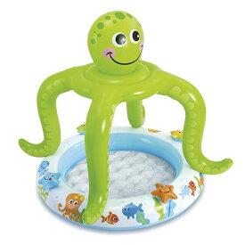 プール インテックス ビニールプール 子供用プール 家庭用プール 57115 タコ 102x104cm SMILING OCTOPUS SHADE BABY POOL INTEX 赤ちゃん 子供 男の子 女の子 幼児 楽しい 送料無料