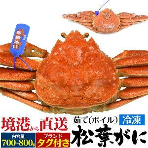 松葉ガニ 境港 茹で 冷凍 松葉ガニ 約700〜800g カニ かに 蟹 海鮮 送料無料 国産 産地直送 海鮮グルメ お取り寄せ