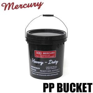 バケツ 蓋付き プラスチック マーキュリー MERCURY おしゃれ インダストリアルPPバケツ ブラック ME046147 レジャー ツールボックス キャンプ 雑貨 アウトドア アメリカン インテリア ガーデニン