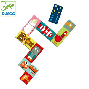 カードゲーム 絵合わせ 絵つなぎ 子供 知育玩具 DJECO ジェコ ドミノ アニモ キッズ おもちゃ DJ08165 ゲーム ドミノパズル 組み合わせ 動物 サイコロ 絵合わせパズル 絵合わせカード 3歳 4歳 幼