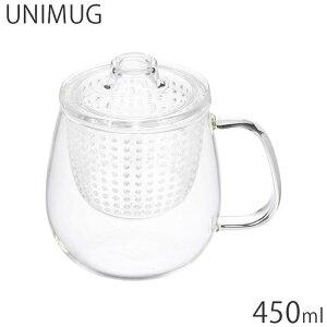 ティーカップ 耐熱ガラス KINTO キントー 紅茶ポット ガラス 450ml 茶こし付 UNIMUG M ユニティ クリア 22912 急須 ガラスポット ポット 食洗機対応