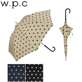 折りたたみ傘 レディース おしゃれ 53cm 傘 雨傘 手開き w.p.c シリンダーケース ベーシックスター mini スター 星柄 ベージュ/ネイビー/ブラック 53cm 760-197 レイングッズ 雨具 ケース