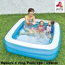 プール ビニールプール 家庭用 150cm スクエア 四角 正方形 JILONG ジーロン JL-667104 レジャープール 水遊び 水浴び…
