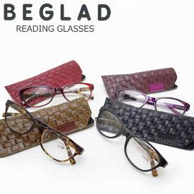 老眼鏡 おしゃれ レディース メンズ シニアグラス 度数 1.0 - 2.5 BGT1011 メガネケース付き 携帯用 リーディンググラス メガネ 眼鏡 携帯 【 メール便 送料無料 】