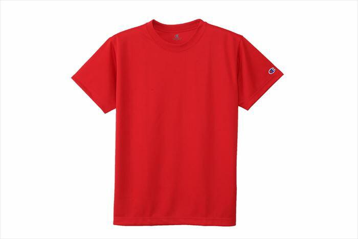 Tシャツ チャンピオン 半袖 Champion C3-HB390 947 スカーレット スポーツ ブランド バスケットボールウェア プラクティスシャツ インナー トップス 部活 練習着 トレーニング 男女兼用 レディース メンズ 郵 メール便 対応