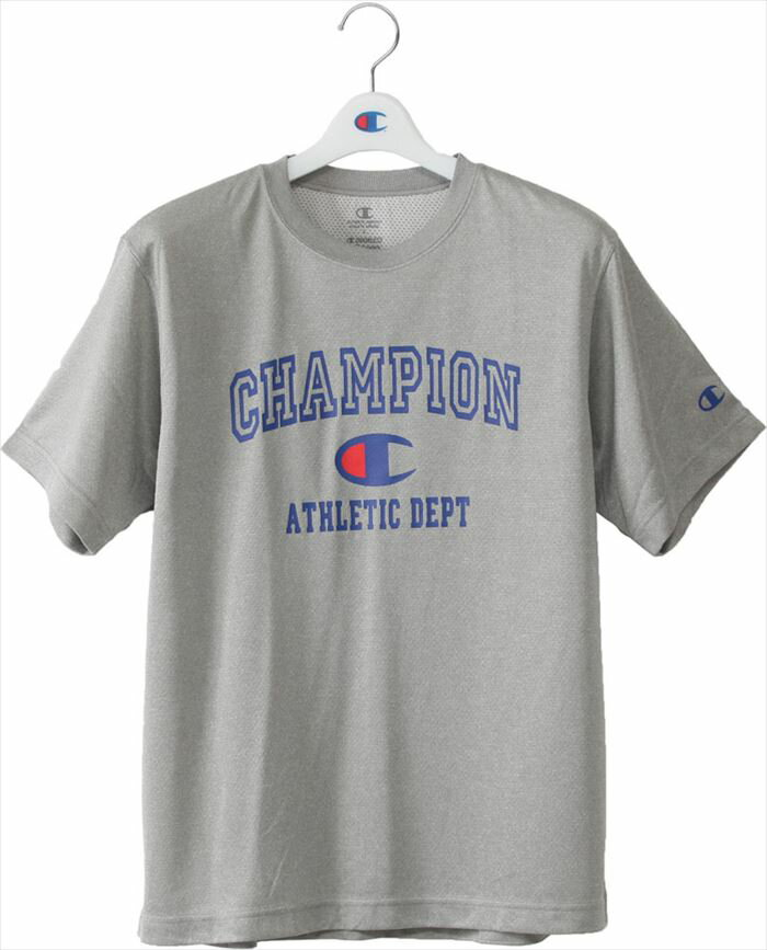 Tシャツ メンズ 半袖 チャンピオン ブランド バスケットボール C ODORLESS BASIC ATHLETIC Champion C3-KS333 070 オックスフォードグレー インナー トップス トレーニング スポーツ 部活 男女兼用 郵 メール便 対応