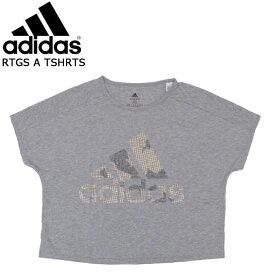 adidas アディダス Tシャツ レディース ウェア 半袖 RTGS A ティー グレー FJV05 スポーツ ジム トレーニング 女性 ランニング ジョギング マラソン トップス スポーツウェア ファッション 【 メール便 送料無料 】