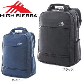 50aa9caecbfc HIGH SIERRA/ハイシェラ リュック コミューター スリム デイパック メンズ/レディース リュックサック ブラック/ネイビー 22L  104888 バッグ バックパック ビジネス ...