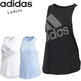 【郵メール便 送料無料】 adidas/アディダス W M4T BOS ロゴ タンクトップ レディース トップス ブルー/ブラック/ホワイト S/M/L FWQ42 フィットネス ヨガ ダンス ジム ウェア ブランド おしゃれ ノースリーブ