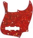 【ネコポス送料無料】日本製 ジャズベース用ピックガード レッドトートイズ3P(赤鼈甲柄) ミリサイズ JB-RTT3