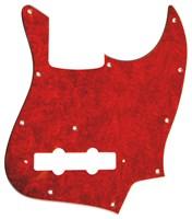 【ネコポス送料無料】日本製ジャズベース用ピックガードレッドトートイズ4P(赤鼈甲柄)ミリサイズJB-RT4