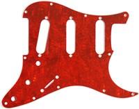 【ネコポス送料無料】日本製62年式11穴ストラトキャスター用ピックガードレッドトートイズ4P(赤鼈甲柄)ミリ規格ST62-RTT4
