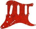 【ネコポス送料無料】日本製 62年式11穴 ストラトキャスター用ピックガード レッドトートイズ4P(赤鼈甲柄) ミリ規格 ST62-RTT4