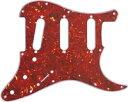 【ネコポス送料無料】日本製 72年式11穴 ストラトキャスター用ピックガード レッドトートイズ3P(赤鼈甲柄) ミリ規格 ST72-RTT3