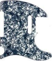 【ネコポス送料無料】日本製52年式5穴テレキャスター用ピックガードブラックパールミリ規格TL52-BP