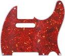 【ネコポス送料無料】日本製 52年式5穴 テレキャスター用ピックガード レッドトートイズ3P(赤鼈甲柄) ミリ規格 TL52-RTT3
