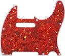 【ネコポス送料無料】日本製 62年式8穴 テレキャスター用ピックガード レッドトートイズ3P(赤鼈甲柄) ミリ規格 TL62-RTT3