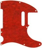 【ネコポス送料無料】日本製62年式8穴テレキャスター用ピックガードレッドトートイズ4P(赤鼈甲柄)ミリ規格TL62-RTT4